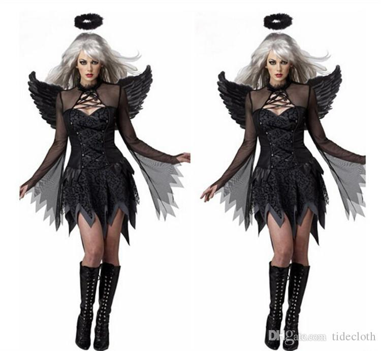 Womenu0027S Sexy Witch Costumes Plus Size V&ire Halloween Cosplay Costume With Wing u0026 Headwear u0026 G String T Back Set Fun Group Halloween Costumes Adults Funny ...  sc 1 st  DHgate.com & Womenu0027S Sexy Witch Costumes Plus Size Vampire Halloween Cosplay ...