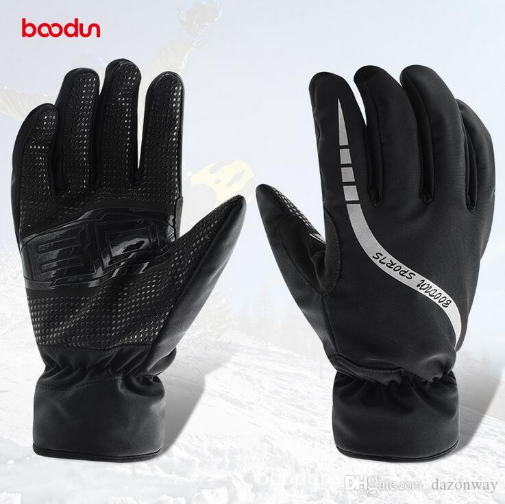 Reasonable Boodun Winter Cycling Gloves Outdoor Sports Mens Ski Glove Waterproof Women Snowboard Bicycle Gloves Warm Skiing Bike Gloves Last Style Cycling Gloves Sports & Entertainment