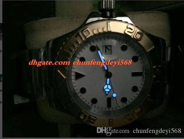 Mode Luxus 40mm Edelstahl 18 Karat Gelbgold # 16623 D Serie MINT Automatikwerk Männer Uhren Top-qualität