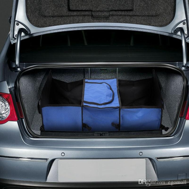 Car trunk storage bag Oxford Cloth folding truck storage box Car Trunk Tidy Bag Organizer Storage Box with cooler bag