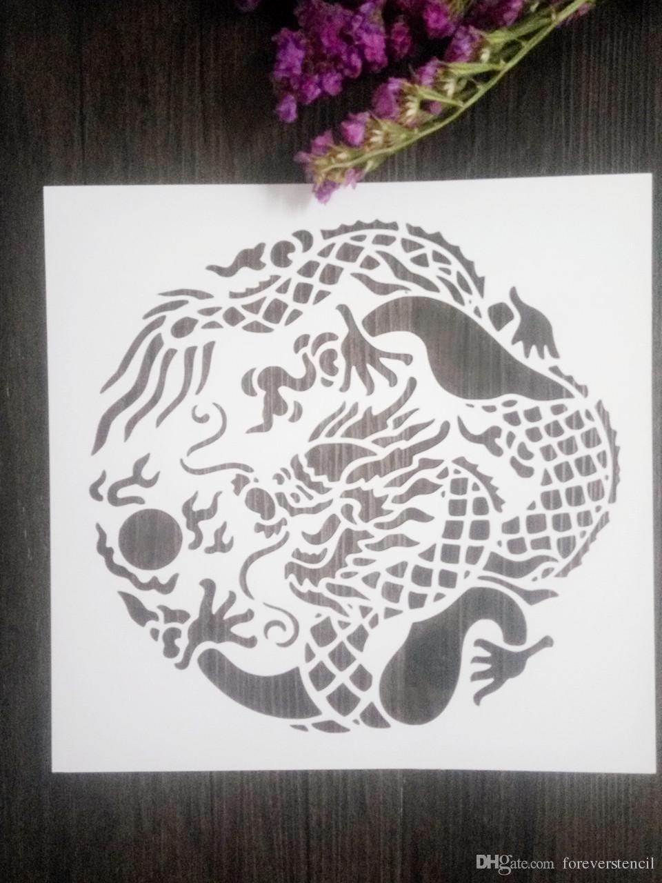 Cheap white drawing stencils for wall masking template for cheap white drawing stencils for wall masking template for scrapbookingcardmakingpaintingdiy cards chinese dragon 088 stencils for scrapbooking diy gumiabroncs Images