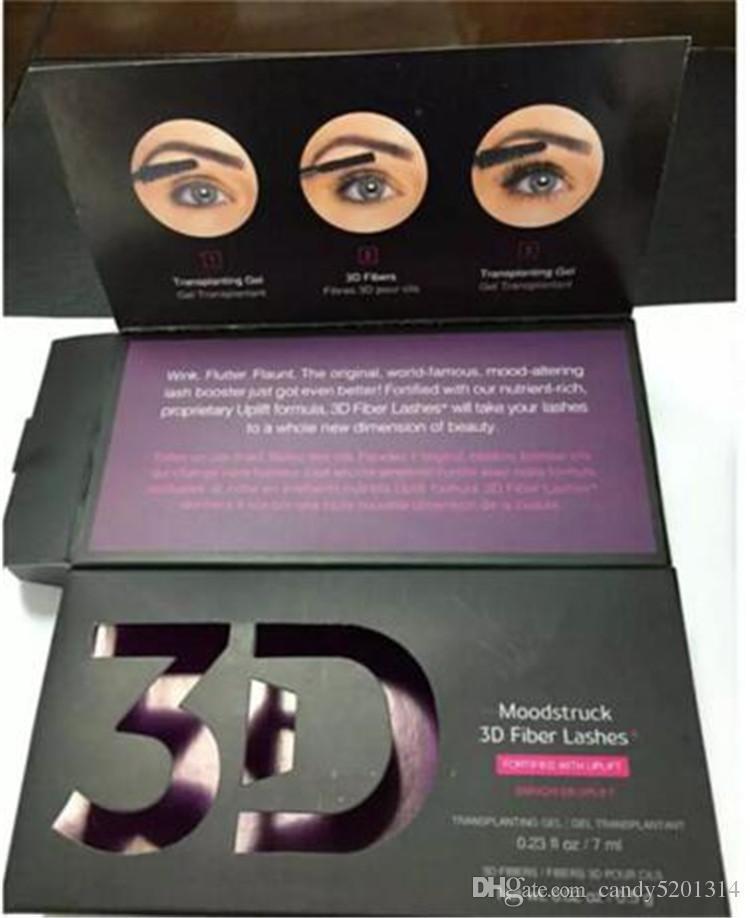 Горячая 1030 3D Fiber Lashes Plus MASCARA Set Макияж ресниц двойная тушь для ресниц Бесплатная доставка 48 шт. = A08
