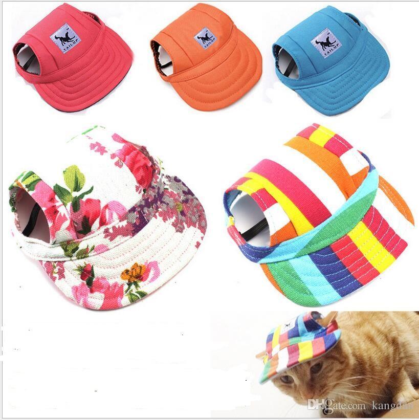 Animal de compagnie chien chat chapeau avec des trous d'oreille