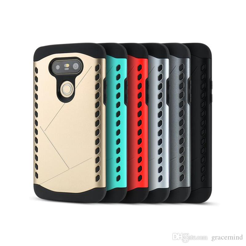 2 in 1 Heavy Duty Armor Combo Cases Dual Layer TPU+PC Back Cover Case For LG G5 G4 H868 Shockproof Cellphone Case