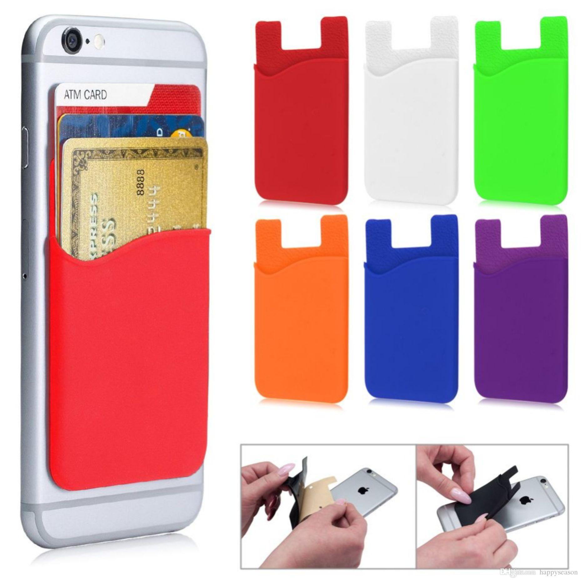 Wallet Credit Card Cash Holder Pouch Stick On Phone Pocket Sticker For  IPhone X 8 7 Samsung Universal 3m Glue Ballistic Cell Phone Cases Camo Cell  Phone ... 5d21c1f19590