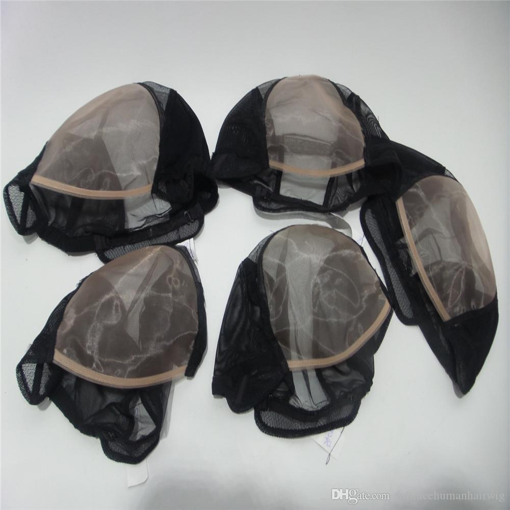 Mono net cap Cheapest MONO Wig Caps For Making Wigs Beige Color U-Part Mesh Hair Net Wig Base Cap MONO Wig Caps For Weaving