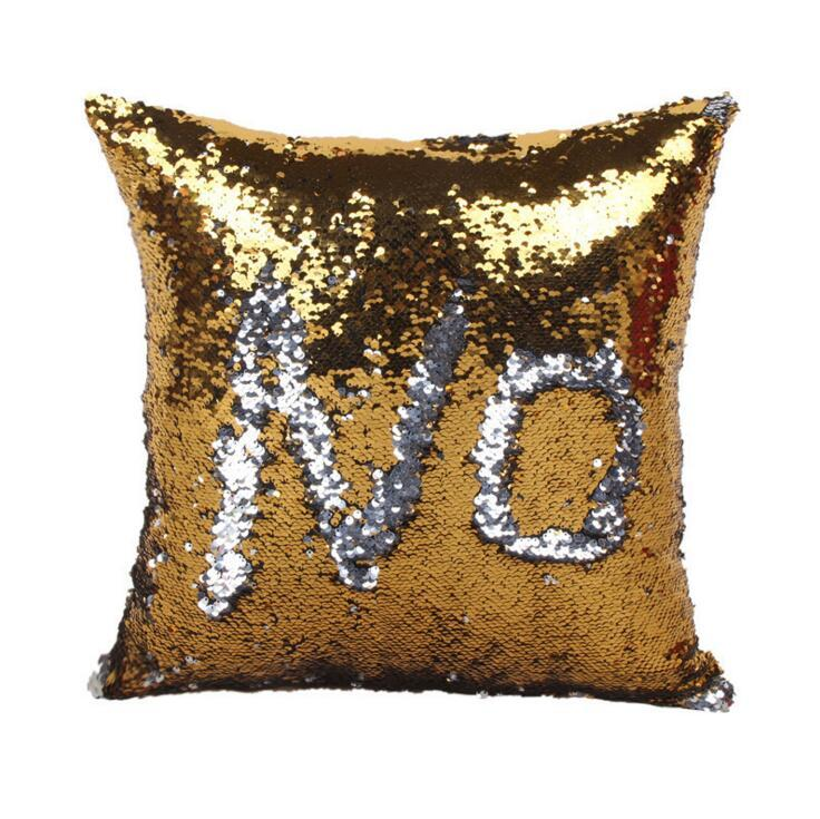 Fashion New 10 Design Sequin Mermaid Pillow Case Cover Reversible Sofa Cushion Cover Magic Pillow Covers Cafe Home