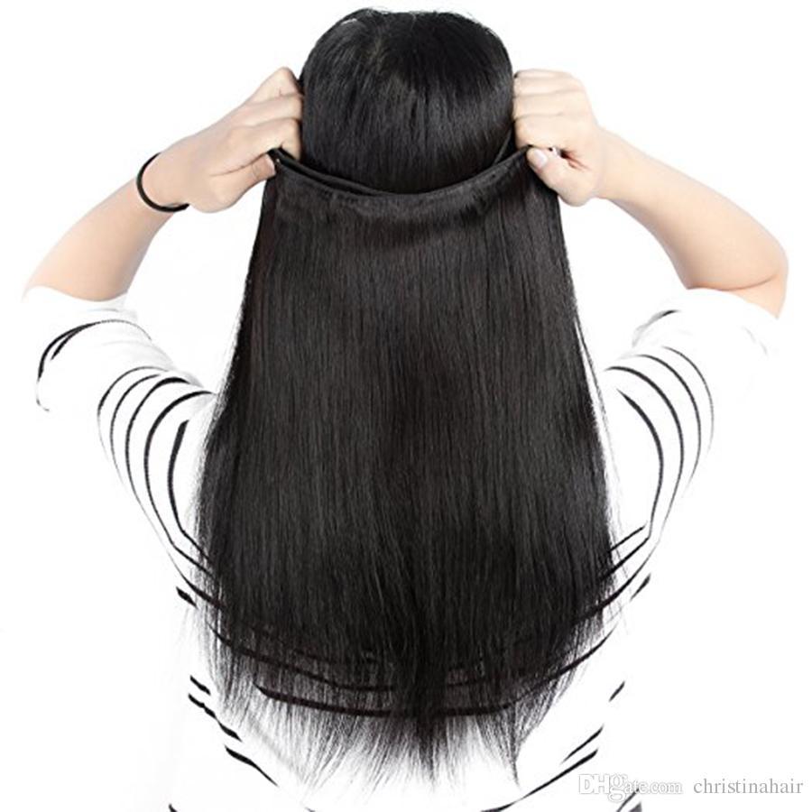I capelli indiani diritti brasiliani di alta qualità dei capelli umani di grado 7A di alta qualità dei pacchi all'ingrosso dei capelli vergini peruviani malesi liberano il trasporto