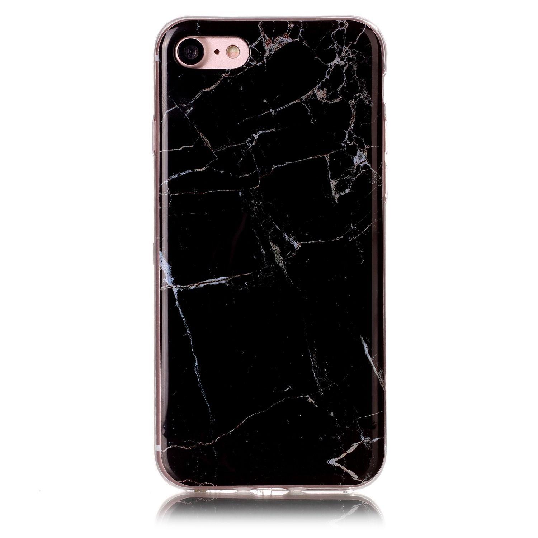 الرخام غطاء لينة ماتي TPU كامل القضية للحصول على حماية اي فون 6 6S 7 زائد الهاتف الخليوي غطاء من الجلد 024