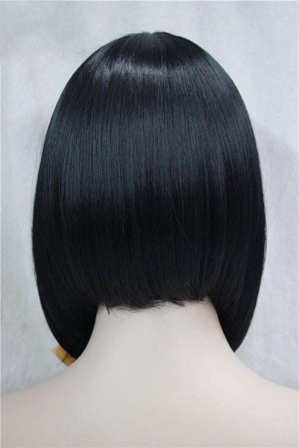 Короткие прямые светлые бобовые выделенные боб с челкой синтетический парик женские парики