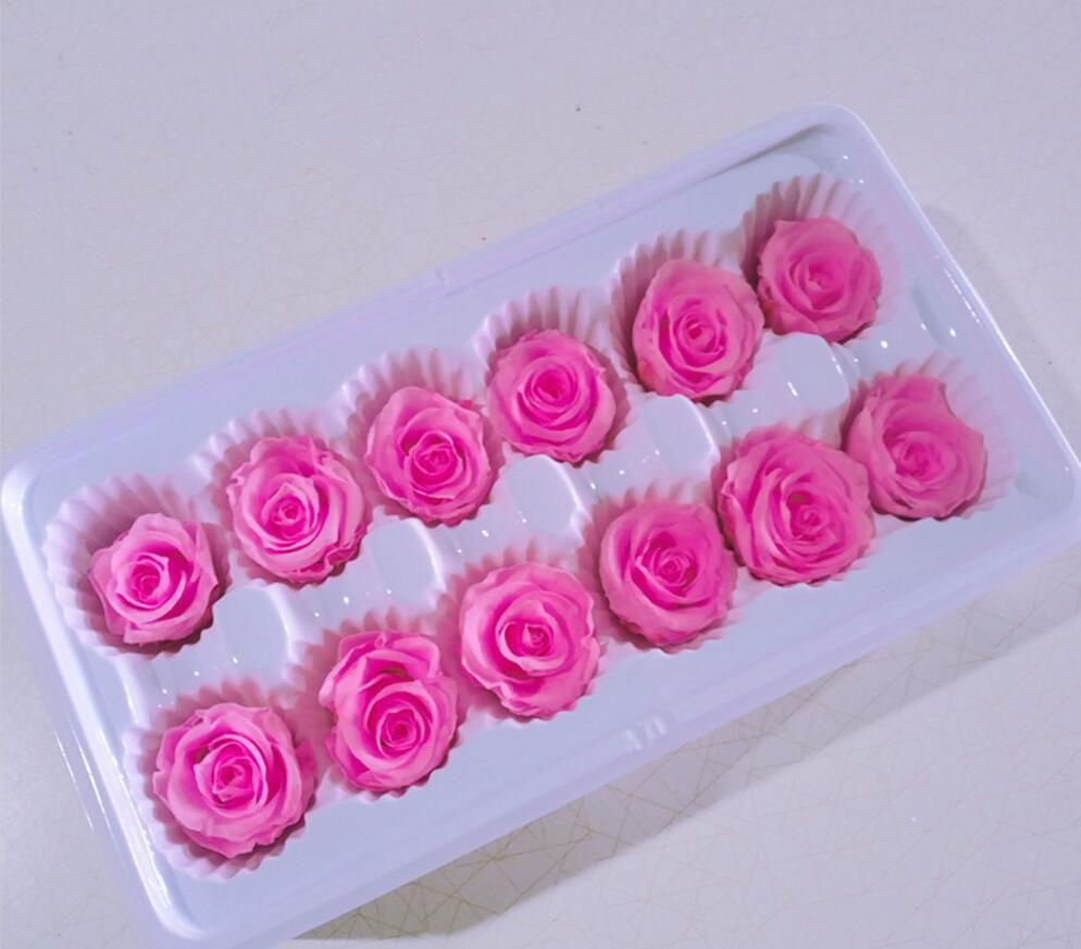 3-4cm konservierter Blumen-Rosen-Knospe-Kopf für Hochzeitsfest-Feiertags-Geburtstags-Geschenk-Bevorzugung Velentines Tages