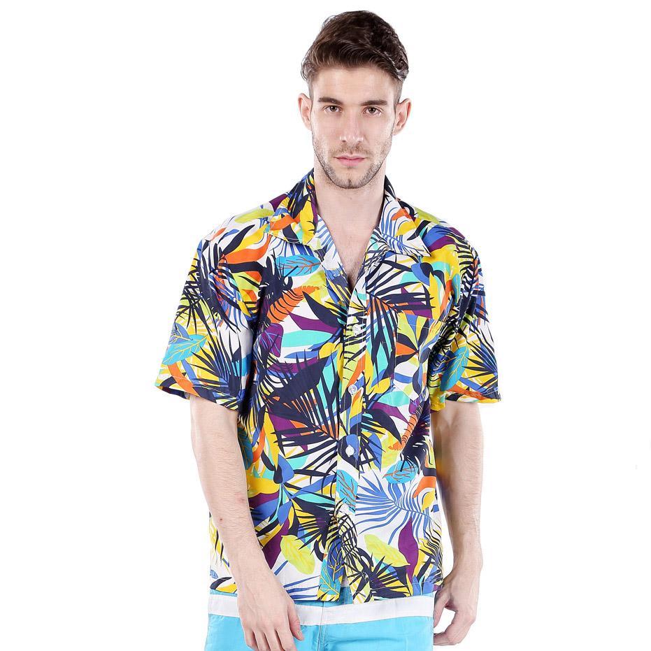 2018 wholesale mens hawaiian shirts short sleeve tropical for Discount mens dress shirts online