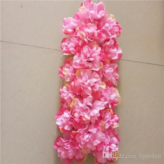 The simulation dahlia row is suitable for the wedding backdrop stage and home decoration