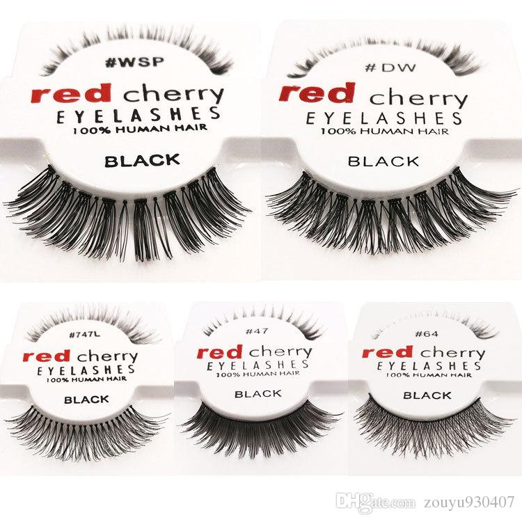 Pack false eyelashes soft red cherry eyelashes human hair eye 12 pairspack false eyelashes soft red cherry eyelashes human hair eye lashes makeup beauty tools eyelash extension pmusecretfo Image collections
