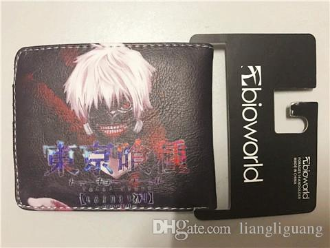 cartoon wallet Tokyo Ghoul wallet Young men and women students personality short animated cartoon fashion purse