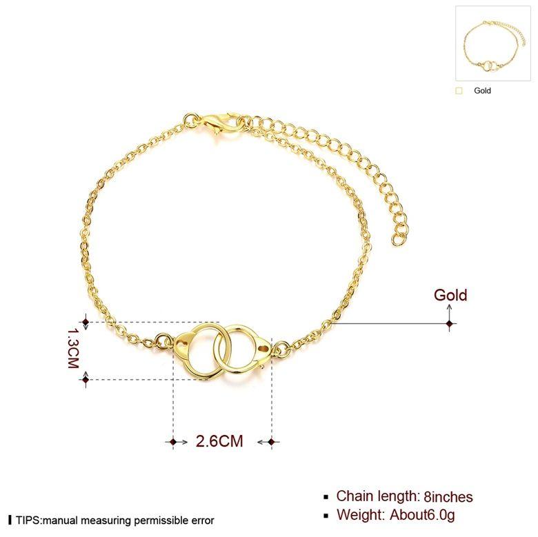 Envío libre al por mayor 18 K oro plateado brazaletes de la joyería de moda BKH003