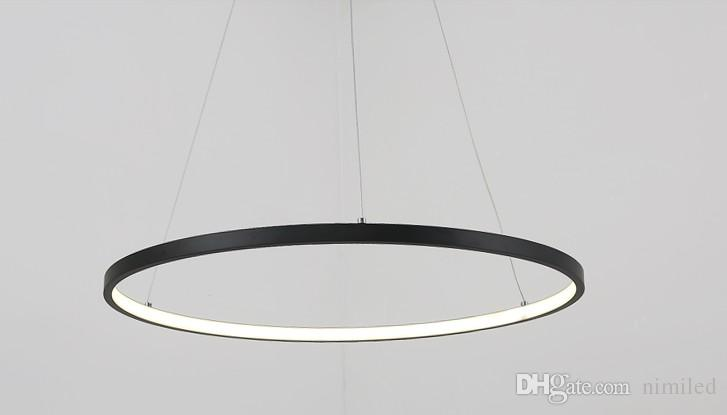 Dimmable black ring pendant lights 321 circle rings acrylic dimmable black ring pendant lights 321 circle rings acrylic aluminum led lighting ceiling lamp fixtures for living room dining room bedroom hanging lights aloadofball Images