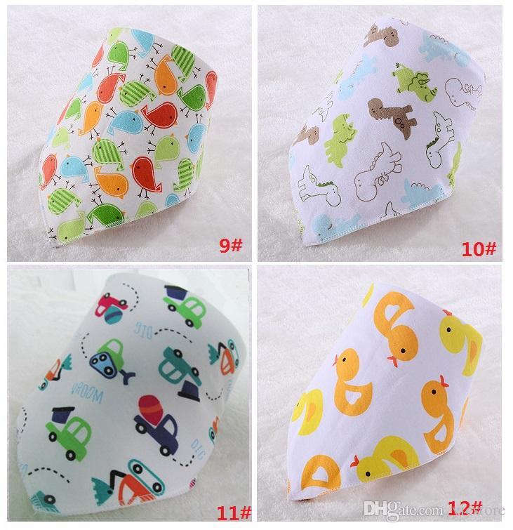 32 stilleri Bebek Önlükler Havlu Bandanalar Üçgen Burp Tükürük Burp Tükürük Bebek Yürüyor Bandana Eşarp Çift Katmanlar Çocuklar Hemşirelik Önlükler