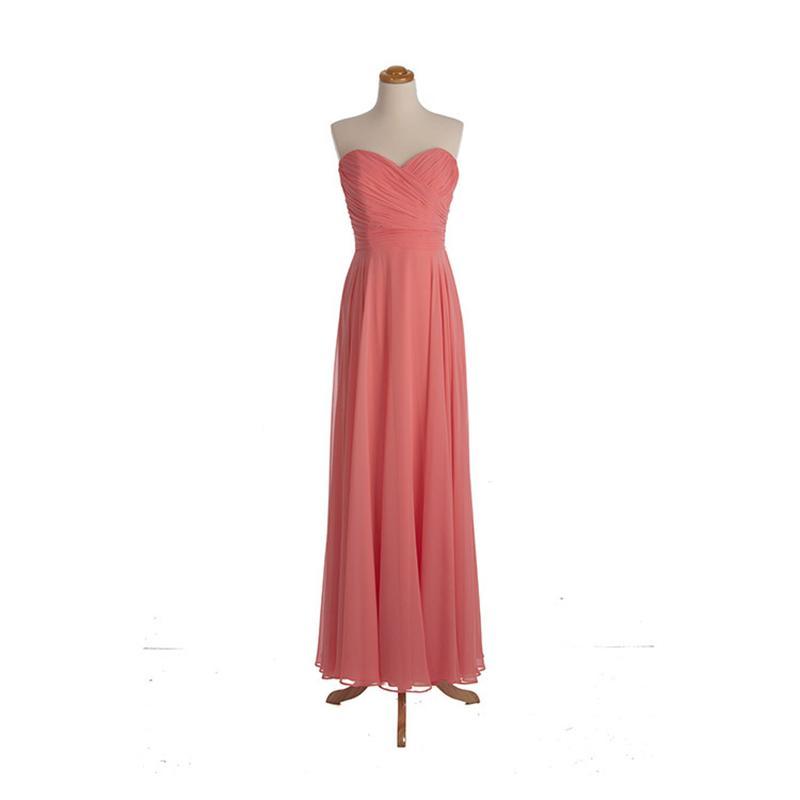 Плиссированные Шифон Линии Платья Невесты Длинные 2017 Новый Формальный Свадебное Платье Коралловый Арбуз Цвет