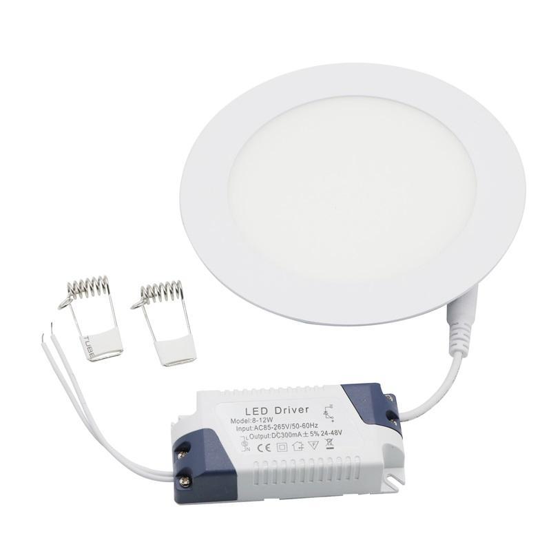 Le panneau d'Edison2011 9W LED allume les Downlights ultra-fins SMD2835 de Non-Dimmable AC85 ~ 265V chauffent / refroidissent le blanc avec les plafonniers menés de conducteur