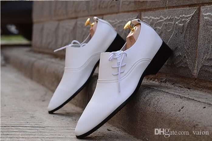 Mens Wedding White Shoes Mens Black