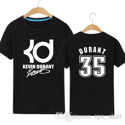 KD No 1 T Shirt Kevin Wayne Durant Short Sleeve Gown Basketball Sport Tees  Leisure Unisex Clothing Quality Cotton Tshirt Printing Tee Shirts Cool  Funny T ...