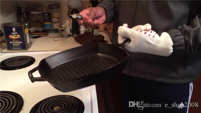 Ove 장갑 전자 렌지 장갑 열 저항력 요리 요리 열 증거 오븐 미트 장갑 뜨거운 표면 처리기