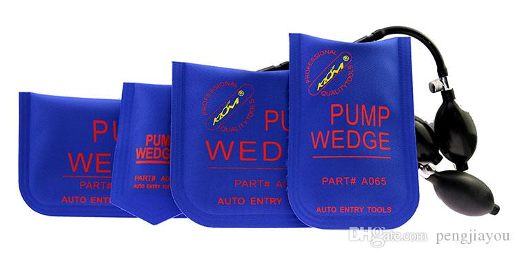 KLOM Pump Wedge Blue Piccolo / Medio / Grande / A forma di U Strumenti di apertura serratura auto professionale Strumenti di bloccaggio veicolo Set serratura auto