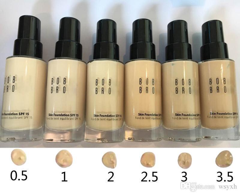 2017 Bobi braun haut Foundation 30 ML Bobi liquid foundation concealer make-up lang-tragen sogar finish foundation 6 farbe mix