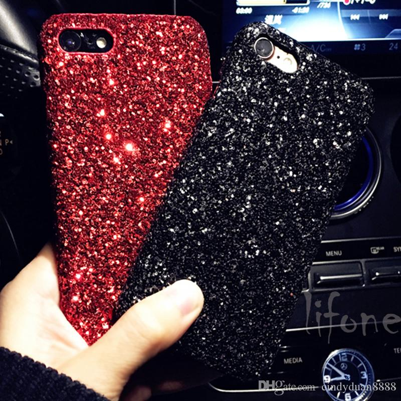 Luxury phone case for iphone X Bling Glitter Shining Flash Powder Capa For iPhone 6 6S 7 8 Plus PC Hard Phone Case