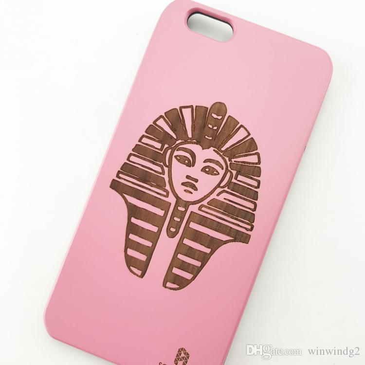 U&I On Sales Superior Colorful Coating Wooden Phone Case for IPhone Laser Engraving Pattern Cute Tree