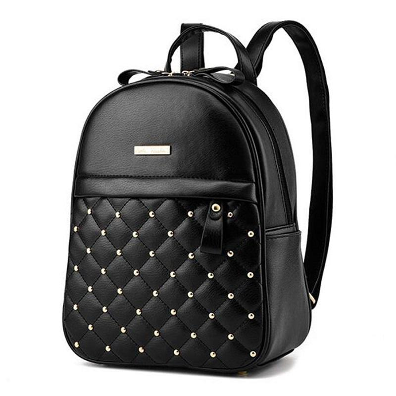 005cb4d85a90 Wholesale Women Leather Backpack Teenage Girl Teens School Bag Female Small  Youth Bagpack Feminine Backbag Rucksack Sac A Dos Femme Batoh Cheap  Backpacks ...
