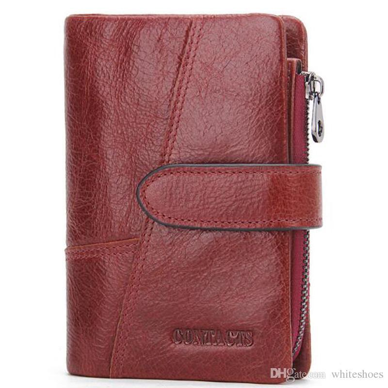 b4085139182f Genuine Leather Wallets For Business Man Fashion Brown Wallet Case Credit  Cards Vintage Short Coin Purse Zipper Clutch Wallets Girls Wallets Wallet  Shop ...