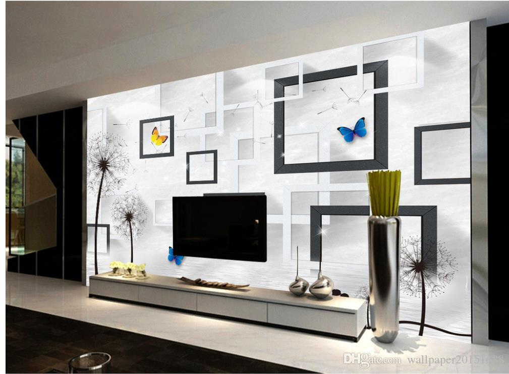 3d wallpaper for room Abstract modern simple tree fashion TV background wall customized wallpaper for walls