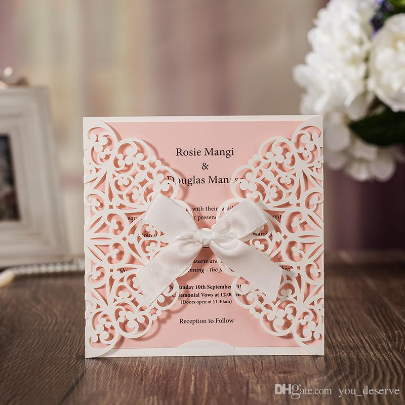 New 2017 Wedding Invitations Cards White Laser Cut Flora ...