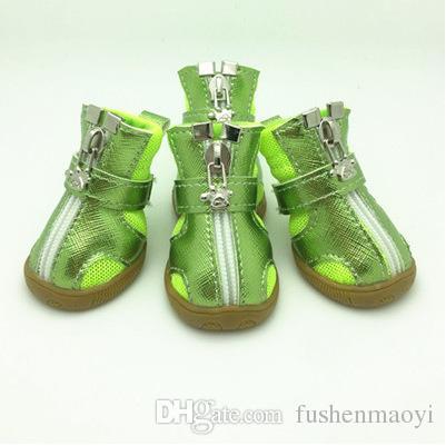 Pet Fashion Series Dog Chaussures Bottillons Semelles en Silicone Respirant Mesh Dog Boots 5 tailles 5 couleurs livraison gratuite