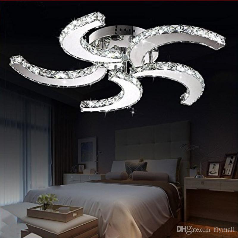 Modern Luxury Crystal Chandelier Light Fan Style Ceiling Lights Indoor Led Pendant Fan Lights Ceiling Lamps Living Room Ceiling Lamps