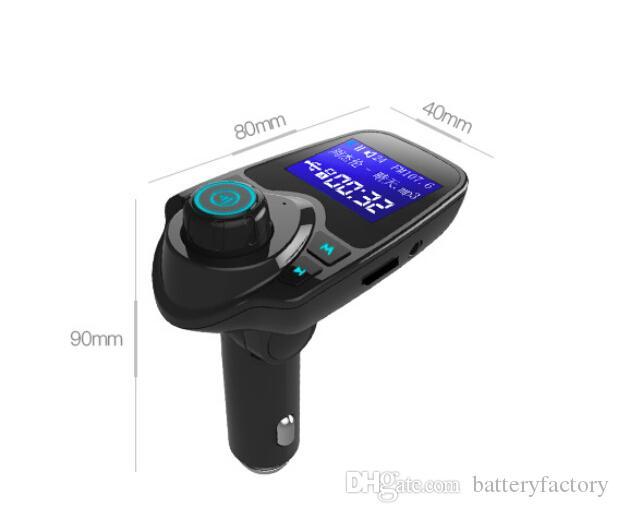Kit de voiture mains libres Bluetooth T11 avec chargeur de port USB et support de transmetteur FM, lecteur de musique MP3 TF VS VS BC06, Kit de voiture T10 X5 G7