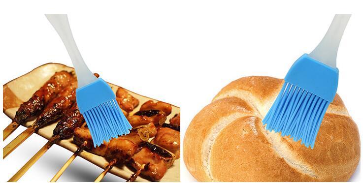 الحلوى الملونة سيليكون خبز فرشاة تغطية بالحساء المعجنات شواء فرشاة النفط فرشاة كريم فرش كعكة إناء الخبز الطبخ