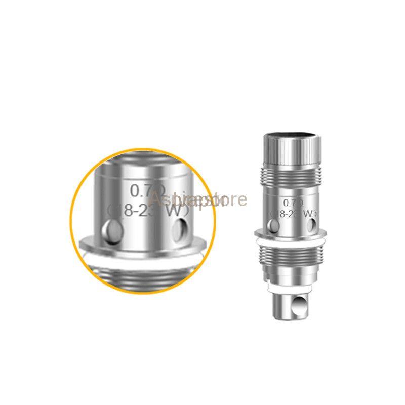 100% original Aspire Nautilus BVC Bobina 0.7 / 1.6 / 1.8 Ohm. Bobinas verticales inferiores para atomizadores Nautilus Mini 2 BVC