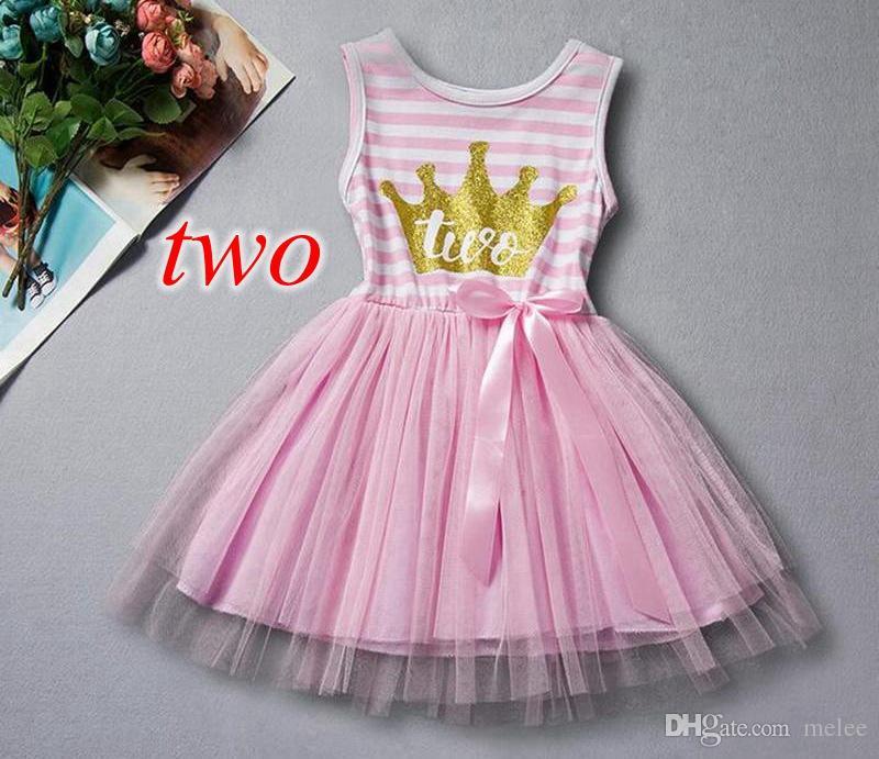 الفتيات عيد ميلاد اللباس الأولين عيد ميلاد الأميرة ملابس الأطفال الذهب ولي رسالة طفل الفتيات توتو اللباس مع القوس عيد ميلاد طفل الزي