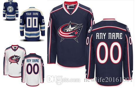 ... clearance stitched personalized columbus blue jackets custom mens women  youth ice hockey jerseys customized home navy 9d03e6a53