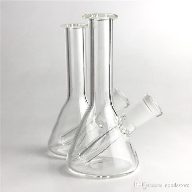 New Mini Glass Bong Water Pipes with 4.3 inch 10mm Female Thick Pyrex Hand Pipe Glass Oil Rigs Recycler Heady Glass Bongs