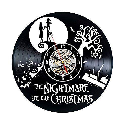 Vinyl Record Clock Nightmare Before Christmas Wall Decor Clock Watch