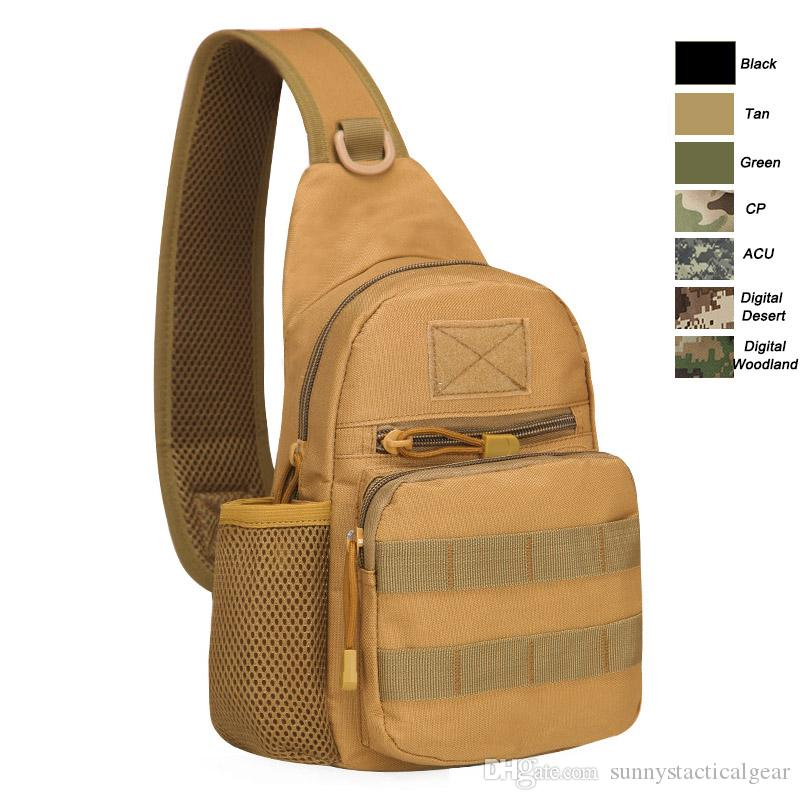 Reasonable Outdoor Tactical Bag Molle Sports Single Shoulder Cross Body Chest Pack Hiking Camping Hunting Army Military Airborne Bags Men Sports & Entertainment Camping & Hiking