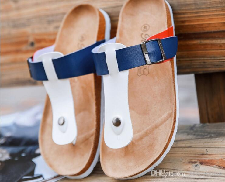 8b5730caf01e Men Shoes Sandals Slippers Summer Men Flats Sandals Cork Slippers Casual  Shoes Mixed Colors Beach Slides Plus Size 39-44