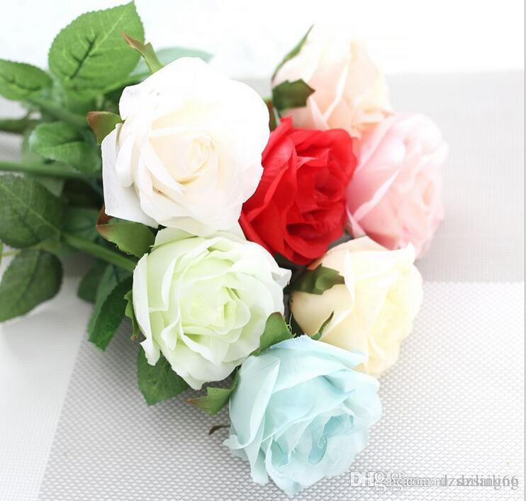 2018 factory direct single rose bridal bouquets silk flowers for, Ideas