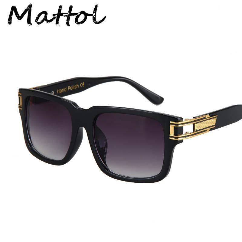 4154115cde Wholesale Mattol Star Sunglasses Men Women Brand Designer Plain Mirror  Glasses Luxury Celebrity Eyeglass Eyewear Fashion Trend Oculos De Sunglasses  At Night ...