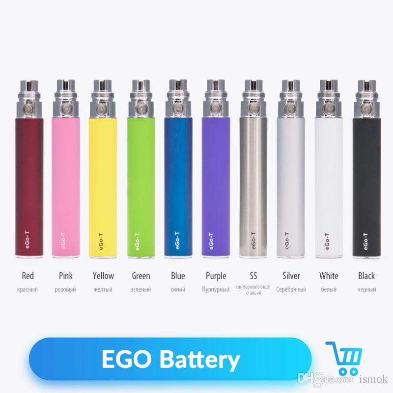 eGo-T Battery Electronic Cigarette Ego Batteries with 510 Thread 650/900/1100mAh Various Colors for CE4 CE5 GS H2 Atomizers eVod Vapor Pen
