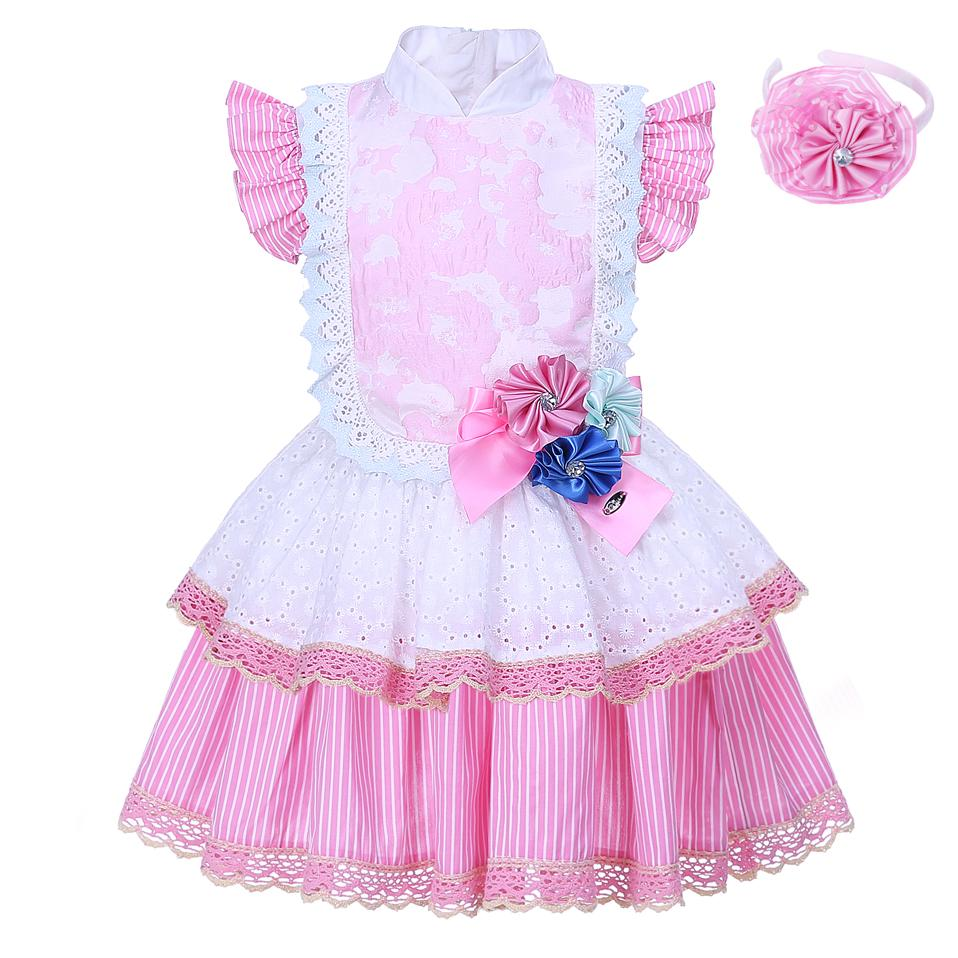 2018 Pettigirl 2018 Fashion Style Flower Girl Dresses Pink Lace ...